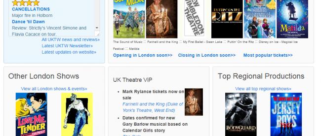 UK Theatre Web rebuild